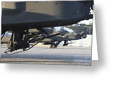 Close-up View Of The M230 Chain Gun Greeting Card