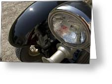 Close View Of The Headlight Greeting Card