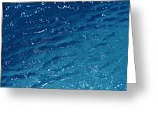 Close View Of The Ocean Shows Greeting Card