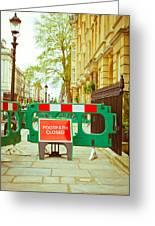 Closed Footpath Greeting Card