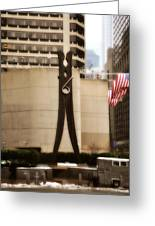 Clothes Pin Statue In Philadelphia Greeting Card