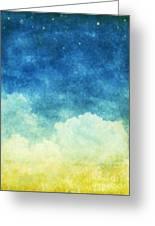Cloud And Sky Greeting Card by Setsiri Silapasuwanchai