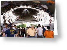 Cloud Gate Sculpture In Chicago Greeting Card