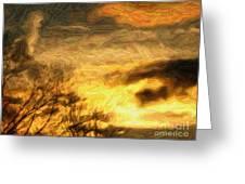 Cloud Hands Greeting Card