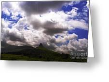 Clouded Hills At Nasik India Greeting Card