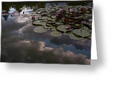 Clouded Pond Greeting Card