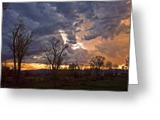 Clouded Sunset Greeting Card
