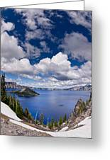 Clouds Above Crater Lake Greeting Card