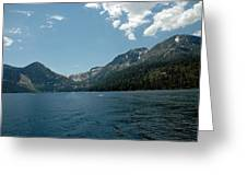 Clouds Above Emerald Bay Greeting Card
