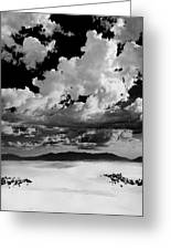 Clouds Above White Sands Greeting Card