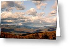Clouds And Mountains Greeting Card