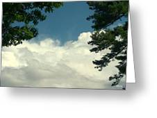 Clouds At Malletts Bay Greeting Card