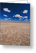Clouds Float In A Blue Sky Above A Dry Greeting Card