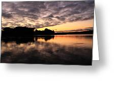 Clouds Going Away At Sunrise Greeting Card