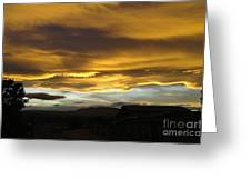 Clouds Illuminated At Sunset Greeting Card