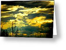 Clouds Of Many Colors Greeting Card