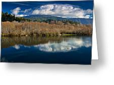 Clouds On The Klamath River Greeting Card