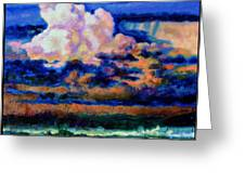 Clouds Over Country Road Greeting Card