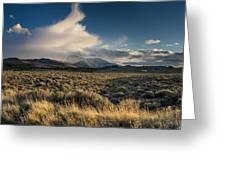 Clouds Over East Humboldts Greeting Card