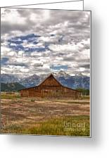 Clouds Over Mormon Row Greeting Card