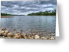 Clouds Over The American River Greeting Card