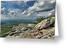 Clouds Over The Cliff Greeting Card