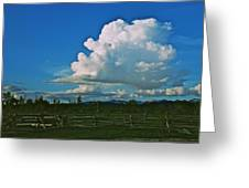 Clouds Over The North Forty Greeting Card