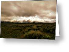 Clouds Over The Tetons Greeting Card