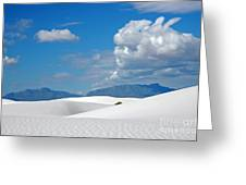 Clouds Over The White Sands Greeting Card