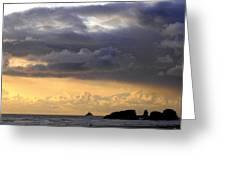 Clouds Over Tillamook Lighthouse Greeting Card