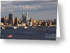 Clouds Rolling In On New York City Greeting Card