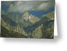 Clouds Shadow Rocky Mountain Peaks Greeting Card