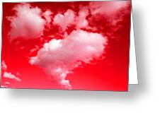 Clouds With Red Sky Greeting Card