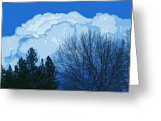 Cloudy Blue Dream Greeting Card