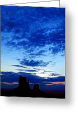 Cloudy Blue Monument Greeting Card