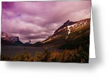 Cloudy Morning At Glacier Greeting Card