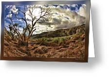 Cloudy Valley  Greeting Card