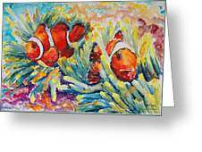 Clownfish In Their Paradise Greeting Card