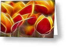 Cluisiana Tulips Triptych Panel 2 Greeting Card