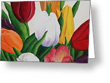 Cluster Of Tulips Greeting Card