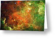 Clusters Of Young Stars In The North Greeting Card