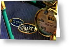 Clutch And Brake Greeting Card