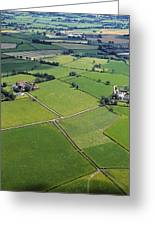 Co Fermanagh, Ireland Aerial View Of Greeting Card