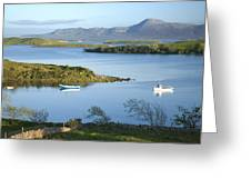 Co Mayo, Ireland Evening View Across Greeting Card