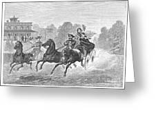 Coaching, 1860 Greeting Card