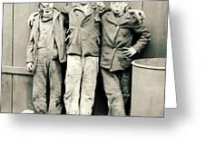 Coal Breaker Boys 1900 Greeting Card