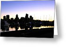 Coal Harbour Greeting Card by Will Borden