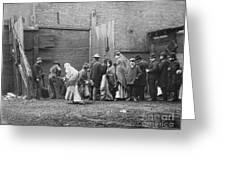 Coal Line, Nyc; 1902 Greeting Card