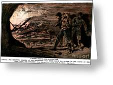 Coal Mine Explosion, 1884 Greeting Card