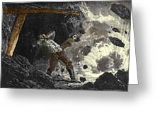 Coal Mine Explosion, 19th Century Greeting Card by Sheila Terry